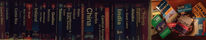 My collection of Lonely Planet and other miscellaneous guide books.