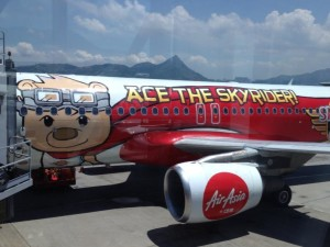 The cartoonish Air Asia plane I took to Malaysia.